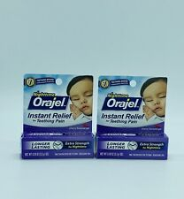 Nighttime Orajel Instant Relief For Teething Pain Lot of 2 Boxes Cherry Flavored