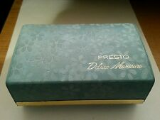 Vintage 1950s Presto Manicure Set Teal box with accessories