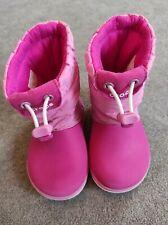 Girls Pink Crocs Snow Boots, Infant Size 7