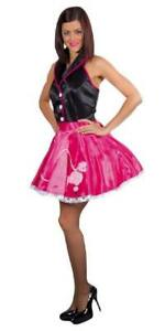50er Jahre Kleid Kostüm Rock n Roll Petticoat Damen Disco Rockabilly Polka Tanz