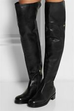 $1495  Jimmy Choo DERON Grain Leather Over-the-Knee Boots Black Bootie 36.5- 6