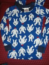 Hanna Andersson Boys New! Organic 2-Pc Long John Pajamas Size 110 Us 5 Blue