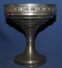 Vintage ornate metal stem bowl