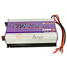 NEW Stackable 2500W Power Inverter 12V DC to 110V AC  WATT 5000W