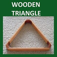 """ WOODEN ""  Triangle FOR 2""  BALLS * POOL / SNOOKER ***"