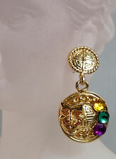 Mardi Gras Comedy Tragedy Drop Earrings (MGE38)