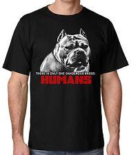 Ban Stupid Humans not Dogs Men's Black Pitbull T shirt  from small thru 5x