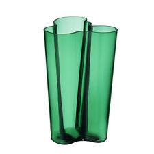 IITTALA ALVAR AALTO Finlandia Vase 251mm Emerald *NEW