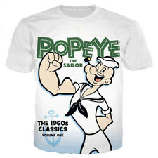 Women Men T-Shirt 3D Print Design Cartoon Popeye Rock Hiphop Short Sleeve Tops