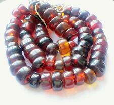 Antique African Ethiopian Simulated Cherry AMBER beads Phenolic resin