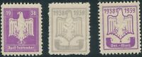 Stamp Germany Revenue WWII 3rd Reich War Era DRL Sports 1938 April Select MNH