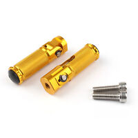 CNC Folding Foot Pegs Footpeg Rear Set Rest Racing For Universal Motor Gold T5