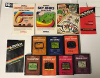 Atari 2600 Activision Game And Manual Lot Stampede Keystone Kapers Sky Jinks