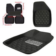 Black Safe Skidproof Waterproof Car Floor Mat for 5 Seats Left Hand Drive Car