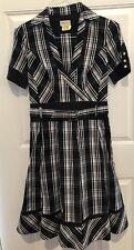 Karen Millen England Black And White Flare Dress Belted  Dress Size US 6