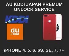 KDDI, AU Japan Premium Unlock Service, fits iPhone 4, 4S, 5, 6, 6S, SE, 7, 7+