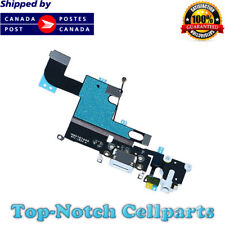 New White iPhone 6 Charging Port + Microphone + Headphone Audio Jack Flex Cable