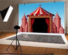 10x8Ft Circus Show Vinyl Photo Backdrop Studio Photography Background