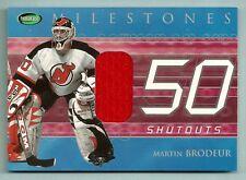 MARTIN BRODEUR 2001/02 PARKHURST NHL MILESTONES GAME WORN JERSEY