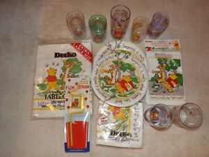 Disney Winnie the Pooh Picnic/Party Set- Plates, Bags, Napkins and Cups