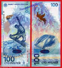 RUSIA RUSSIA 100 rublos rubles 2014 Sochi Olimpic Games HYBRID Pick new SC / UNC
