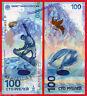 RUSIA RUSSIA 100 rublos rubles 2014 Sochi Olimpic Games HYBRID Pick 274b SC  UNC