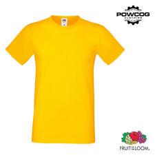 Fruit of the Loom Plain Unisex Softspun Mens T-Shirt Top %7c 10 COLOURS %7c S - 3XL