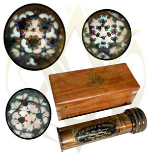 Kaleidoscope with Wooden Box Children Vintage Toys Kids Science Vintage Gifts UK