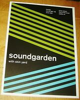 SOUNDGARDEN ROCK CONCERT POSTER SWISS PUNK GRAPHIC POP ART RAINBOW SEATTLE WA