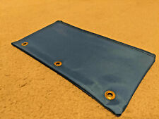 3 Ring Blue Pencil Pouch with Metal rivet holes