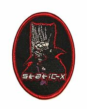 """""""Static-X"""" Band Logo Wayne, The True King of Evil Disco Iron On Applique Patch"""