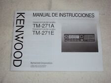 Kenwood TM 271A / 271E Instruction Manual (Spanish Version)