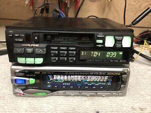 Rare Alpine TDA7536j & CDA5755 High Quality Car Audio 7 Band Graphic Equalizer