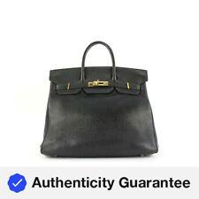 Hermès черный кожаный Биркин в верхнем Courroies 32 сумка Hac 3her5