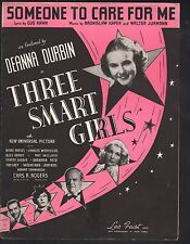 Someone to Care For Me 1936 Deanna Durbin in Three Smart Girls Sheet Music
