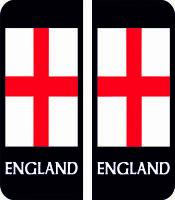 England Flag Number Plate Badge Exterior Vinyl Sticker Car Decal x 4