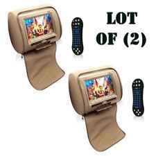 "(2) Pyle PL74DTN 7"" Hi-Res Headrest Video Display Monitor W/ DVD, USB, Remote"