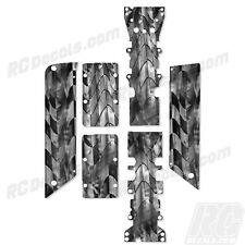 Traxxas E-Maxx - Chassis Plate + Skid Protector Decals - Checkered - TRA3922A