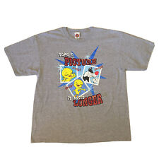 Vintage 90s Looney Tunes T-Shirt Mens Xl Tweety Bird Sylvester Hip Hop Gray Tv