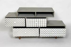 Side Cabinet for Home and Office Furniture Grey