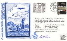 AC17 40th ann operazione Manna firmato LANCASTER RAF COVER