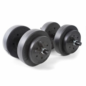 Gold's Gym RSV-GG42-2 40lb Vinyl Cement Dumbbell Weight Set