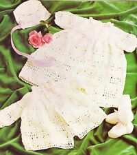 BABY LACY LAYETTE / 4ply - 3 to 6 months - COPY Baby crochet pattern