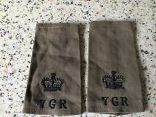 More details for nice old original erii period major epaulette rank slide 7th gurkha rifles badge
