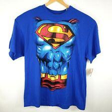 DC Comics Mens Size 2XL Halloween Superman Costume Shirt Removable Cape NWT