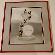 "Disney MGM Art of Animation Cel ""Mickey Film Strip"" Hand Painted Custom Framed"