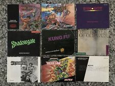 Lot of 11  Nintendo NES Instruction Manuals w/ Dracula's Curse, Turtles II +More