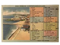 Busy Persons Correspondence Card Postcard - Long Beach, CA July 21, 1941