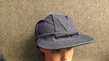 NOS Vtg USA made Denim Railroad Engineer Farmer Hat/Cap  sz XL 7 3/4