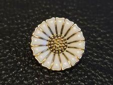 Denmark  Georg Jensen 925 Sterling Silver Enamelled Daisy Brooch